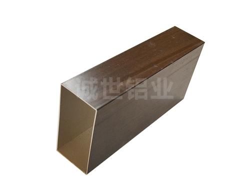 仿木纹铝方管